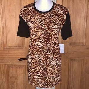 NWT M LLR Leopard Print & Black Hudson Tee